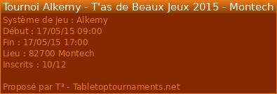 Tournoi ALKEMY à Montech (82) à 45 min de Cahors ! 13936