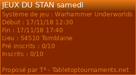 2 TOURNOIS WARHAMMER UNDERWORLD: 17 et 18 novembre a Nancy 23149